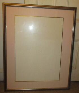 Huge frame with Glass, Mat and backing - ready for your artwork!
