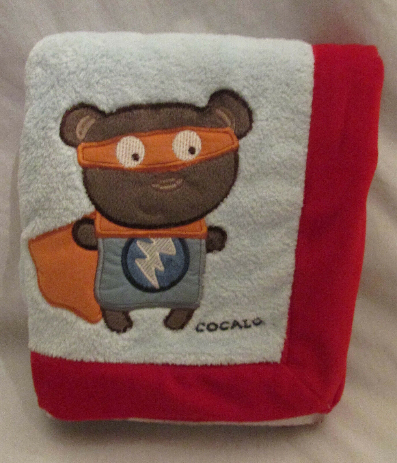 CoCaLo Superhero Pals Plush Baby Blanket Plush Velour Unused