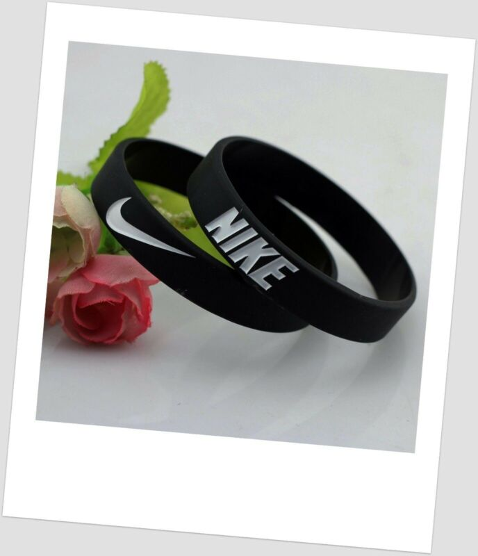 Nike black White oreo Baller band rubber bracelet wristband Elite Series AF1