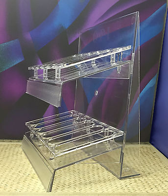 OPI Empty Clear Nail Polish Rack. Holds 36 bottles. Counter display stand. New
