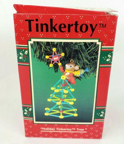 Enesco Holiday Tinkertoy Tree Treasury of Christmas Ornament 1996