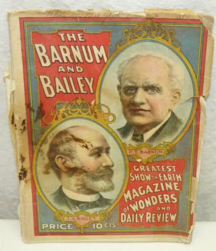 1907 Strobridge Litho Barnum & Bailey Greatest Show on Earth Program Magazine
