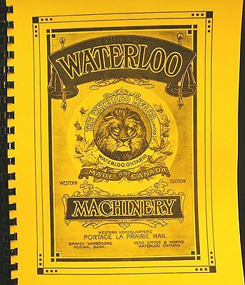 1916 Waterloo Machinery Sales Manual Portable Traction Engines Wind Stacker