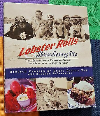 Maine Cookbook 3 Generations Lobster Rolls   Blueberry Pie Recipes Stories Hb