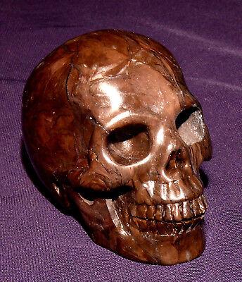 Edelsteinschädel Skull, 95,8g, 52x40x33mm, Heilstein