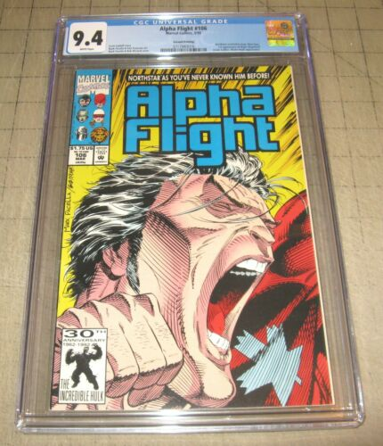 ALPHA FLIGHT #106 (2nd Print 1992) - CGC Graded 9.4 Comic - Northstar Revelation