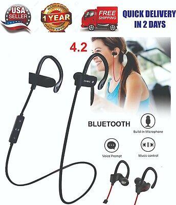 Sweatproof Wireless Running Sports Bluetooth Headphones Headset Stereo