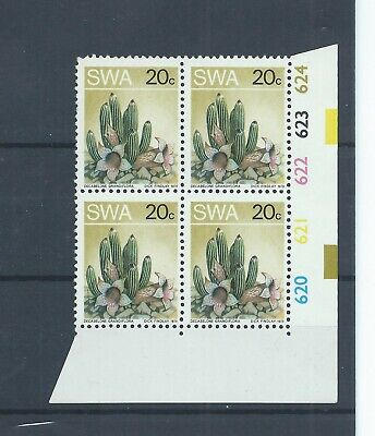 South West Africa stamps 1973 20c Succulent - extra stick & white dot (H936)