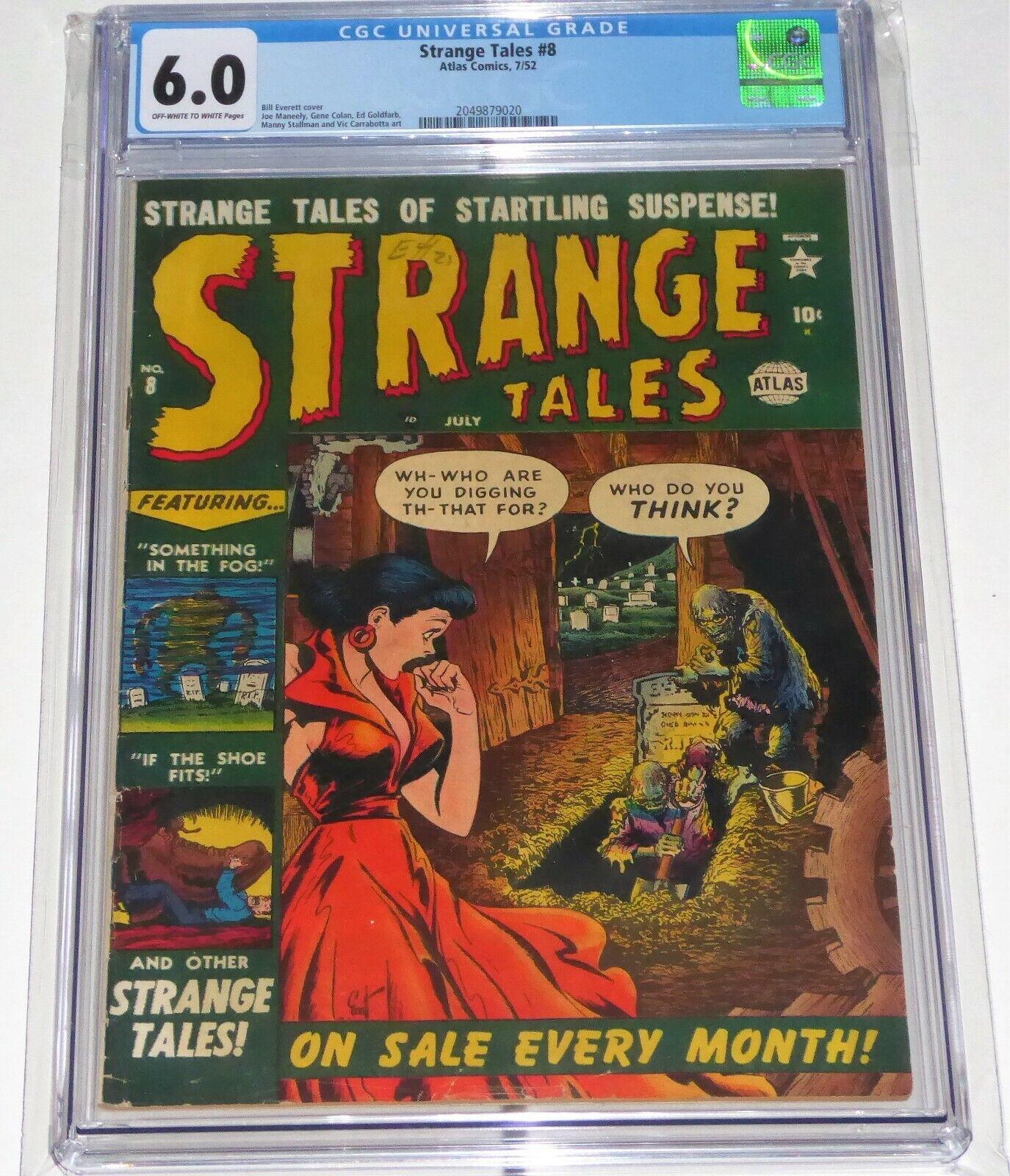 Strange Tales #8 Atlas Comics CGC Universal Grade Comic 6.0 Zombie Skeleton 🔥