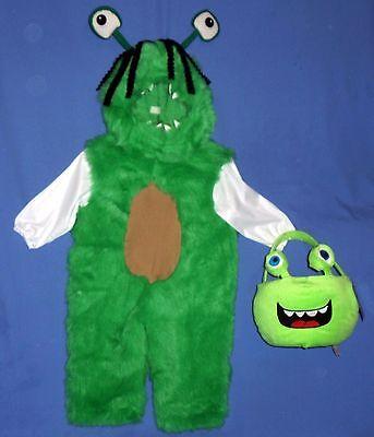 Swamp Monster Costume (PLUSH MONSTER COSTUME CHILD-1-2;3-4-ALIEN-SWAMP-HALLOWEEN TRICKS OR TREAT)