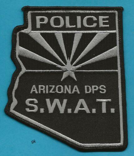 ARIZONA POLICE SWAT DPS STATE SHAPE SHOULDER PATCH  (Subdued - black)