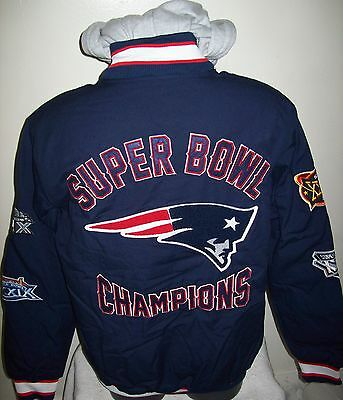 New England Patriots 4 Time Super Bowl Championship Cotton Jacket S M L Xl 2X