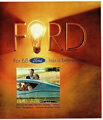 1968 Ford Mustang Galaxie LTD XL Torino Fairlane Falcon Wagons T-Bird Brochure