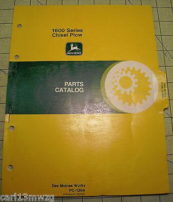 John Deere 1600 Series Chisel Plow Parts Catalog Manual Pc-1264