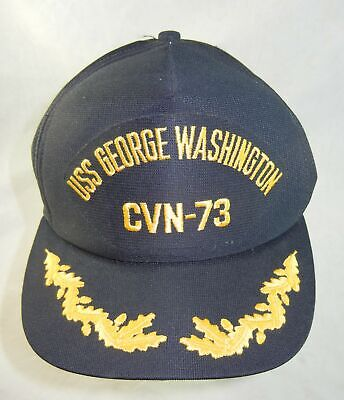 George Yellow Hat (USS George Washington CVN-73 Hat Baseball Cap Black Yellow Embroidered)