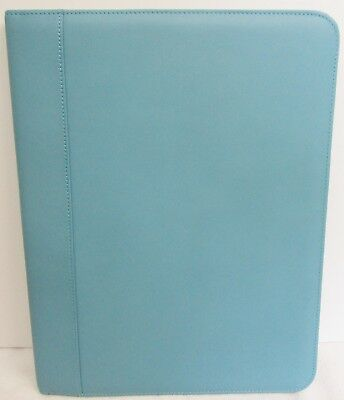 Andrew Philips Deluxe Napa Leather Writing Pad Holder 12 12 X 9 12 X 34 Blue