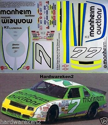 NASCAR DECAL # 7 MANHEIM AUCTIONS 1994 BGN LUMINA HARRY GANT 1/24