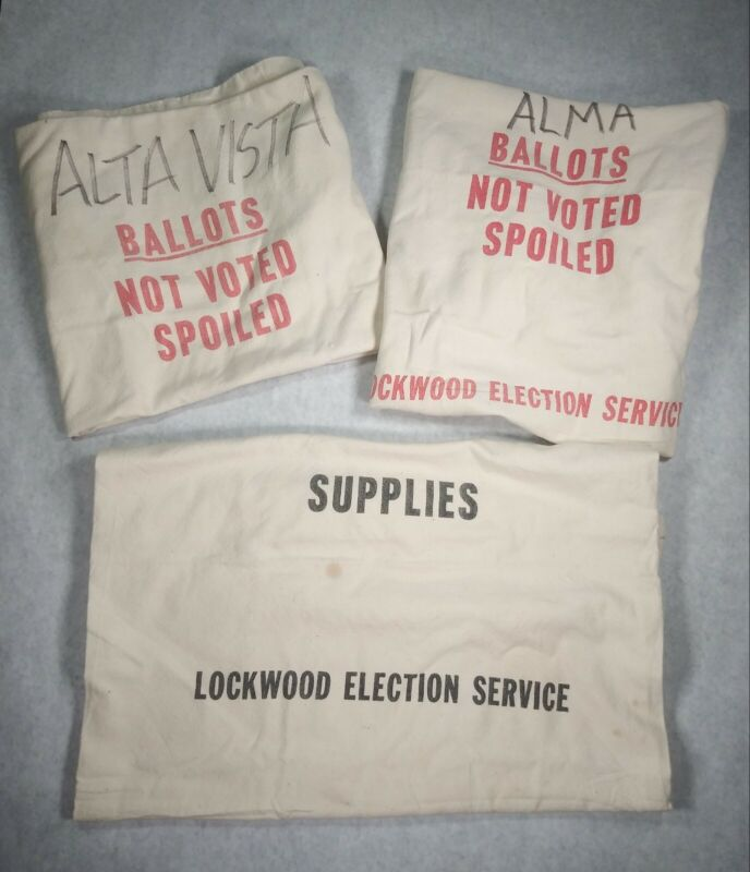 Lot Of 3 Kansas Ballots Bag Not Voted Lockwood Election Vote Political Supplies