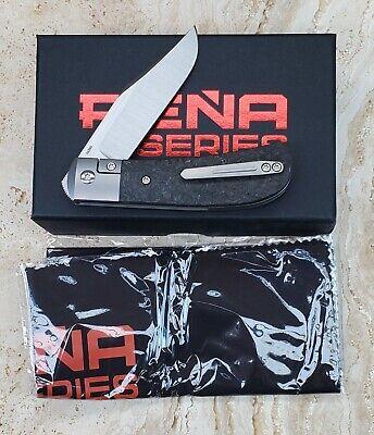 New Pena Knives X Series Lanny's Clip Front Flipper Marbled Carbon Fiber