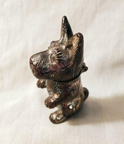 Vintage Scottie Dog Figural Table Lighter; Small Dog Standing or Begging pose