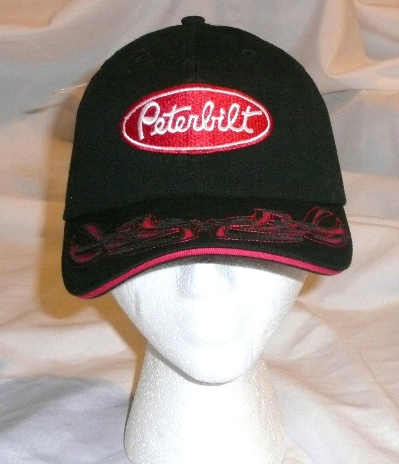 Peterbilt Black Tribal Visor Trucker Hat Cap Adjustable Cotton >new
