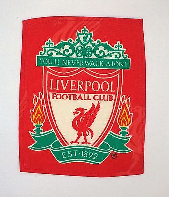 LIVERPOOL fabric  BADGE 105mm wide X  135mm long FOOTBALL PATCH