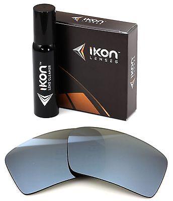 Polarisiert Ikon Iridium Ersatzgläser für Oakley Augenklappe 2 Silber Spiegel