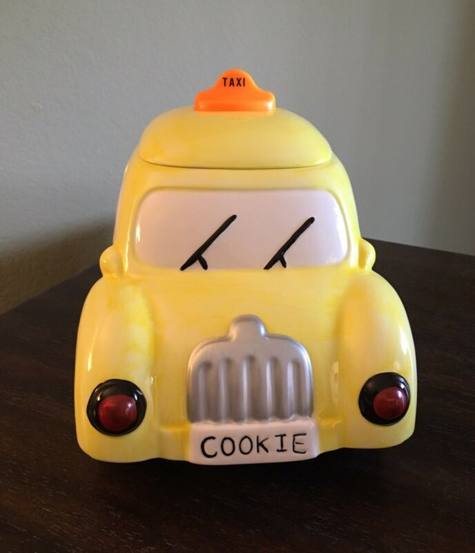 AMC New York (Lights Up & Makes Sounds) Taxi Cab Cookie Jar