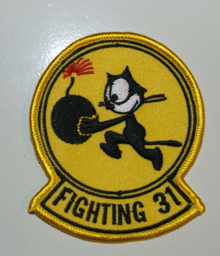 NAVY FIGHTING 31 SQUADRON FELIX THE CAT BOMB EMBROIDERED MILITARY PATCH (52)