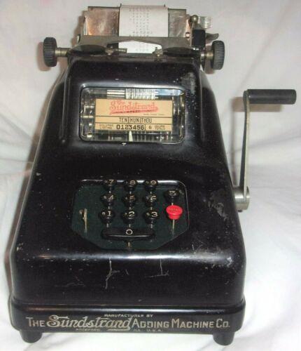 The Sundstrand Adding Machine Co. Vintage Collectible Antique 1923 Cash Register