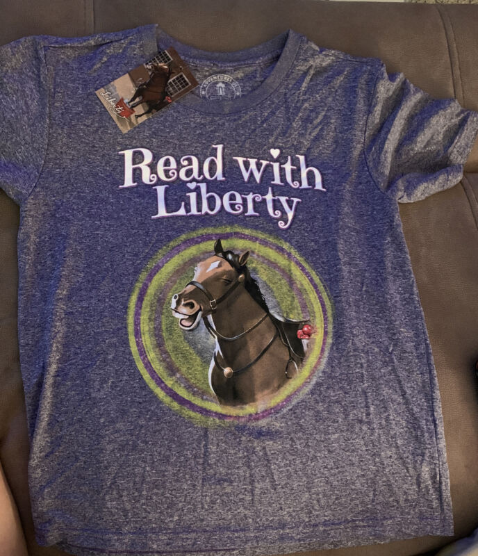 Adventures Rush Revere T Shirt Child XL Large Liberty Horse Read Limbaugh Purple