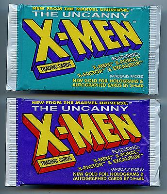 X-Men Jim Lee Trading Cards Pack set 2X (2 packs) Marvel Comics 1992 Z5