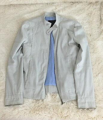 Zara Man Black Tag Jacket Lined Stone Light Grey Small Slim Fit