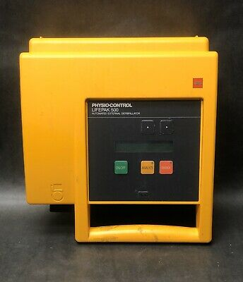 Lifepak 500t Aed Training Defibrilllator Medtronic W Pads Bag No Battery