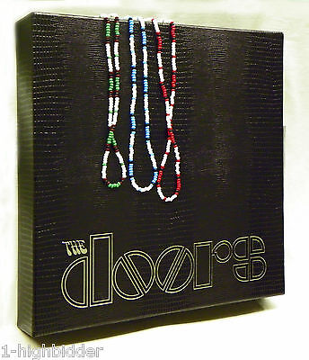 """Set of 3: 21"""" Jim Morrison Style Bead Necklace Original Green, Red, & Turquoise"""