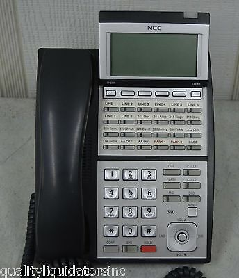 Nec Ip3na-24txh 24-button Digital Display Phone Dlvxdz-ybk Nice