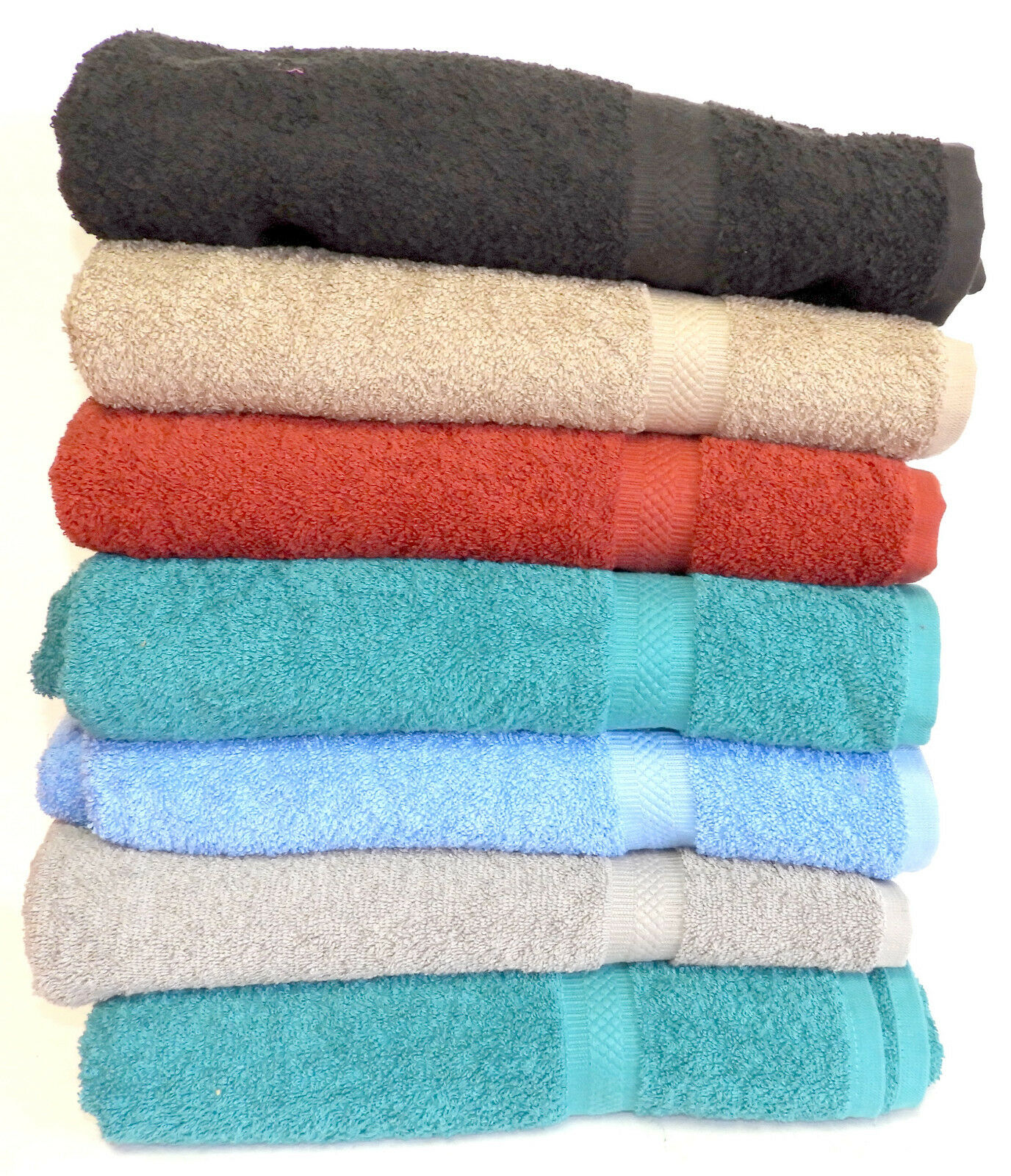 "6-Pack: 30"" x 54"" 100% Cotton Extra-Absorbent Bath Towels"