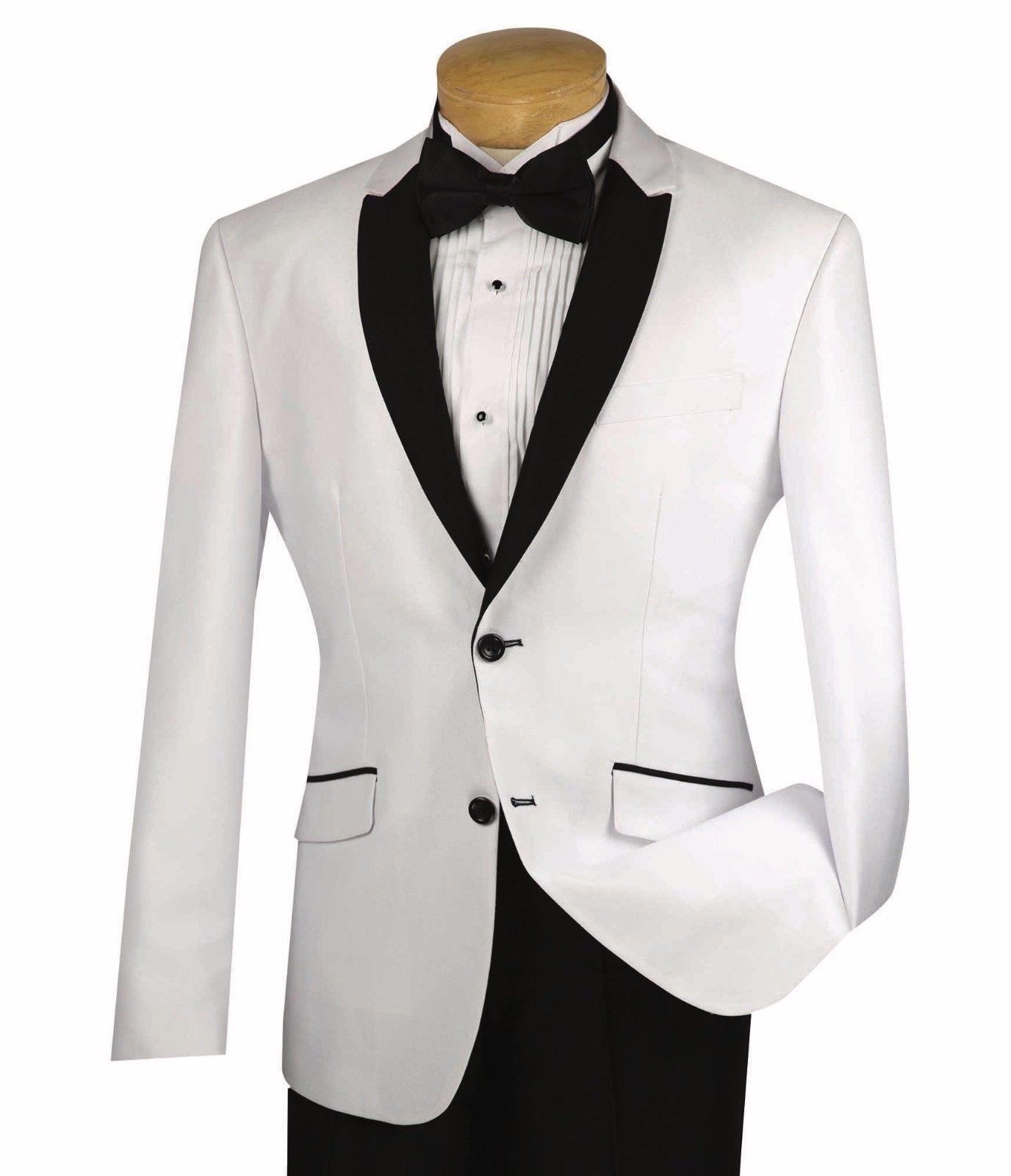 2018 White Groom Tuxedos Men Wedding Suits Jacket