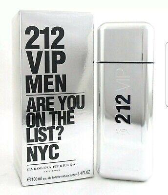 212 VIP MEN by Carolina Herrera Cologne 3.4 oz. EDT Spray. Brand new and Sealed