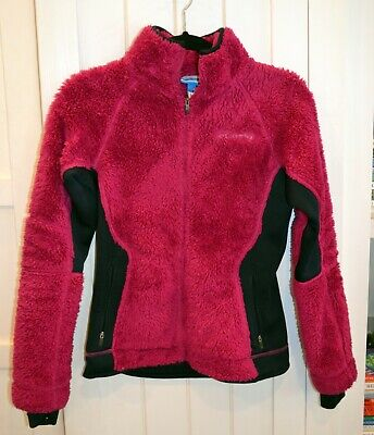 Columbia Pearl Plush II Fleece Fuzzy Full Zip Winter Jacket XS Bright Pink Columbia Pearl Plush Fleece