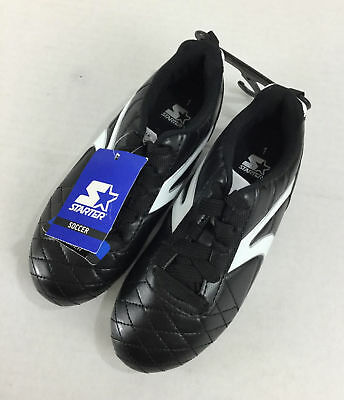 Starter Boys Soccer Cleats NWT Size 1 Black White Lightweight Synthetic Molded