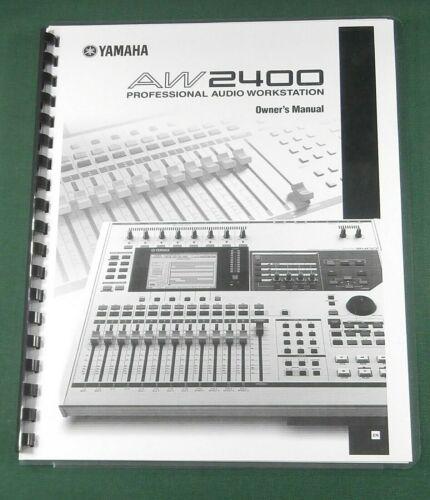 Yamaha AW2400 Owner