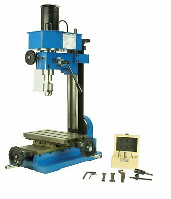 Mini Metal Mill Drilling Machine Press Benchtop 38 Drill Capacity With Cutters