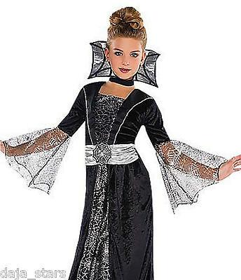 ★ Amscan Dark Hexenkleid Vampir Vampiress Spiderella Hexe Dracula 104-140