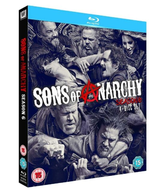 SONS OF ANARCHY Complete Series 6 Blu Ray All Episodes Sixth Season UK Release