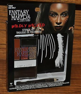 Wet N Wild Wildly Wicked She Wolf Stencil Kit Halloween Costume Party NEW ()