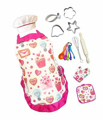 Cupcake Chef Set for Kids Cooking, Play Set with Apron for Girls,Chef Hat, an...](Chef Hat For Toddler)