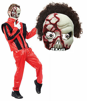 Boys Kids Michael Jackson Thriller Zombie Halloween Fancy Dress Costume Mask - Zombie Costume Kid