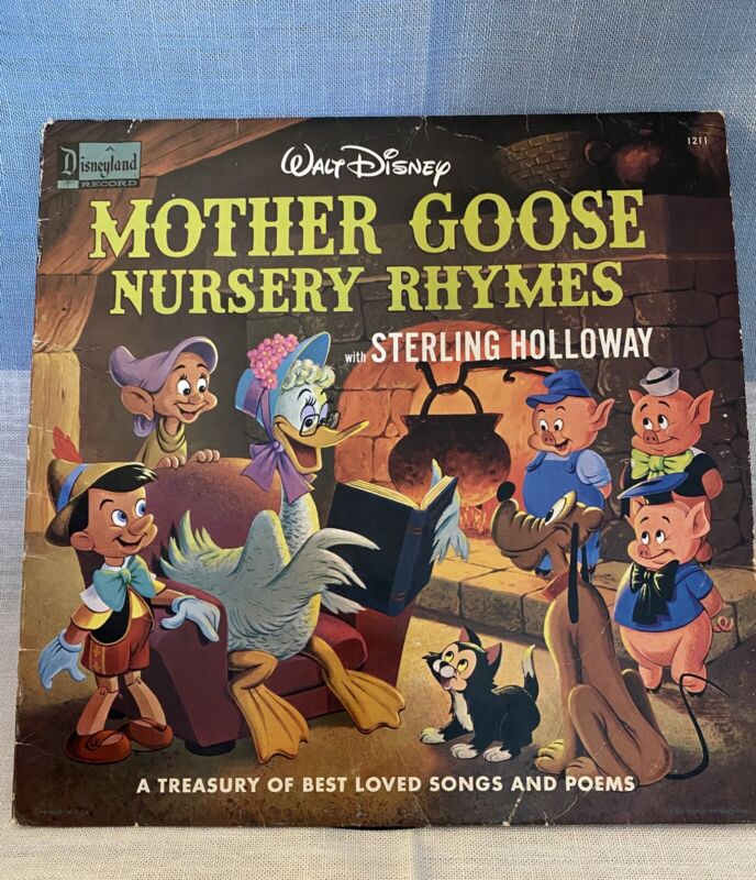 Nice 1964 WALT DISNEY MOTHER GOOSE NURSERY RHYMES RECORD WITH STERLING HOLLOWAY