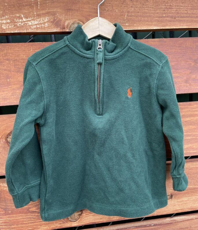 Ralph Lauren Baby Boys Half Zip Sweater Green Size 3T